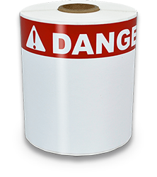 4x6 inch red danger labels