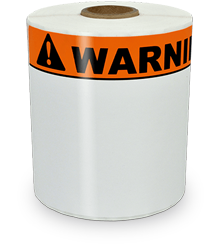 4x6 inch orange warning labels
